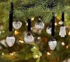 mini mercury glass shaped ornaments set of 24 pottery barn
