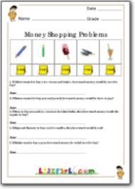 class 4 money problems shopping activity sheet money worksheets