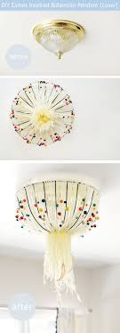 Ceiling Light Fixture Cover Up 6 Ways To Cover Ceiling Light Fixtures Curbly