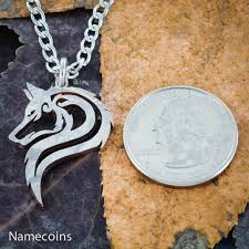 coin jewelry necklace images Lone wolf necklace hand cut single wolf coin jewelry namecoins jpg
