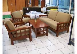 salon canap fauteuil 4 pièces osaka merisier microfibre 1 canapé 3 places 2