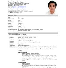 resume sle for job application in philippines time magnificent official resume format cv template artist