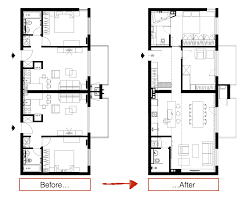 Floor Plan Flat by Three Sleek Apartments Under 1500 Square Feet From All In Studio