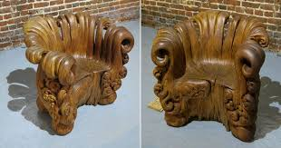 Stump Chair Incredible Chair Carved From Single Oak Stump Wgn