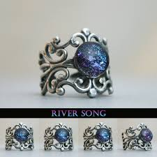 doctor who wedding ring river song inspired antique silver cuff ring