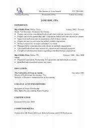 Simple Example Of Resume by Examples Of Resumes Financial Samurai Resume Example Good