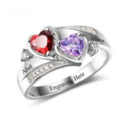 engraved promise rings images Engraved birthstone anniversary promise rings think engraved JPG