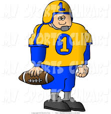 football player standing drawing clipart panda free clipart images