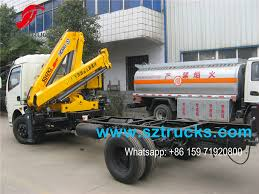 best 4 ton small used crane mounted truck with 2 knuckle booms