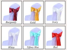 chair bows 100pc pack fancy wedding chair sashes 7 x108 decoration boda
