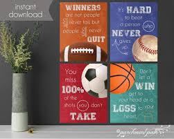 printable sports quotes sports quotes printable art set playroom printable art