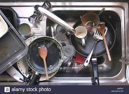 Kitchen Sink Full Of Dirty Washingup Stock Photo Royalty Free - Dirty kitchen sink