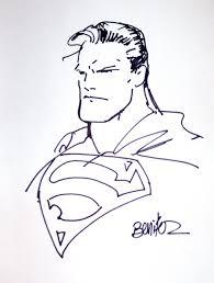 superman sketch thomas jay u0027s joe benitez comic art gallery room