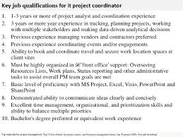 project coordinator resume project coordinator resume example