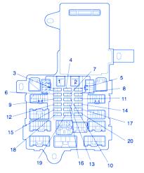 lexus is300 2005 under dash fuse box block circuit breaker diagram