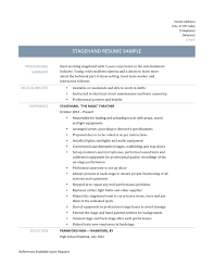 show resume samples stagehand resume samples and template stagehand resume template resume
