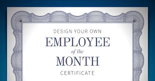 sample employee of the month certificate employee of the month certificate when i work