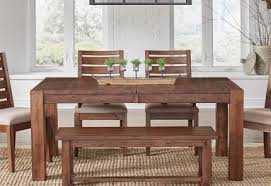 Wood Dining Table With Bench And Chairs Dining Room Furniture The Old Cannery Furntiure U0026 Mattress Warehouse