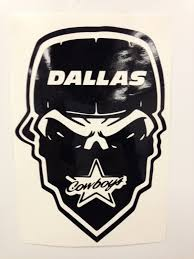 dallas cowboy skull decal free shipping from decalden on etsy studio