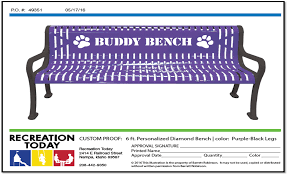 Personalized Park Bench Recreation Today Customized Buddy Bench Friendship Bench