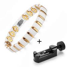 ceramic bracelet fashion images Welmag magnetic ceramic bracelets gold color charm bracelets link jpg