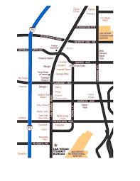 Las Vegas Convention Center Map by Las Vegas Strip Map