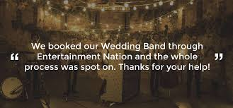 the wedding band live wedding bands for hire uk entertainment nation