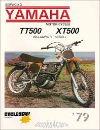 shop manual tt500 xt500 service repair yamaha book xt tt 500