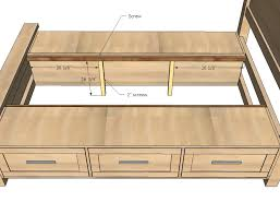 Free Queen Platform Bed Plans by Ana White Farmhouse Storage Bed With Storage Drawers Diy Projects