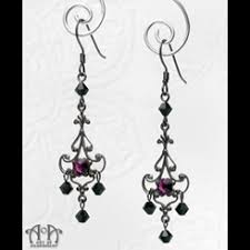 Gunmetal Chandelier Earrings Mystere Collection Art Of Adornment