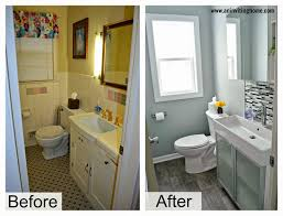 bathroom renovation before and after house design ideas