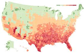 United States Climate Regions Map by As Climate Changes Southern States Will Suffer More Than Others