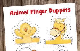animal finger puppets highlights for children