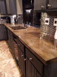 granite countertops ideas kitchen best 25 concrete kitchen countertops ideas on farm