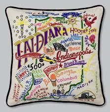 amazon com catstudio indiana pillow original geography