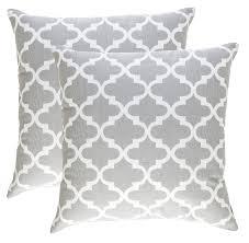 amazon com sweet jojo designs gray and white trellis collection