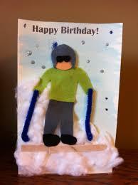 ski collage birthday card my kid craft