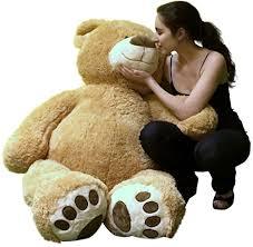 big teddy big plush teddy 5 color soft smiling big