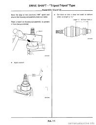 nissan frontier drive shaft nissan 300zx 1984 z31 rear suspension workshop manual