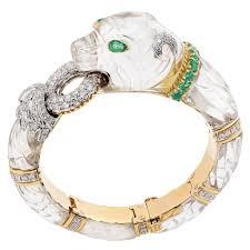 emerald diamond gold bracelet images David webb rock crystal emerald diamond gold panther bangle jpg