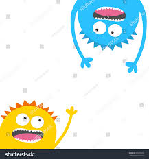 screaming monster head silhouette set two stock vector 696635878 screaming monster head silhouette set two eyes teeth tongue hands hanging