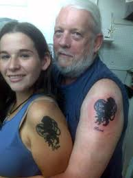father daughter tattoos very tattoo