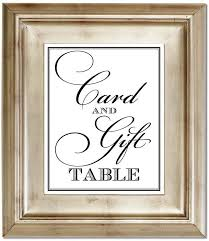 wedding gift table sign wedding gift table signage lading for