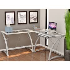 Best Gaming Computer Desks by Amazing Z Line Belaire Glass L Shaped Gaming Computer Desk Best