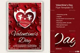 valentines flyer template valentines day flyer template v3 by lou606 graphicriver