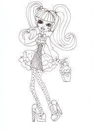 free printable monster high coloring pages draculaura coloring sheet