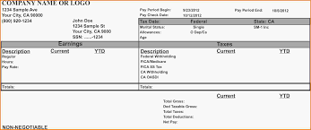 Check Stub Template For Excel 28 California Pay Stub Template Standard Residential Lease