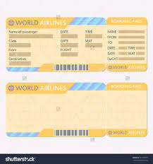 blank airline ticket template free