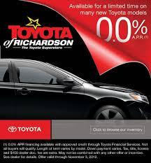toyota financial car payment 0 apr toyotas car loan specials dallas area auto financing