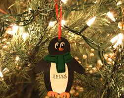 penguin ornament etsy